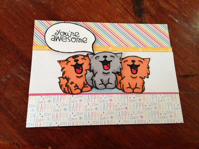 Birthday Card Making Paper Smooches Nine Lives Stamp Set