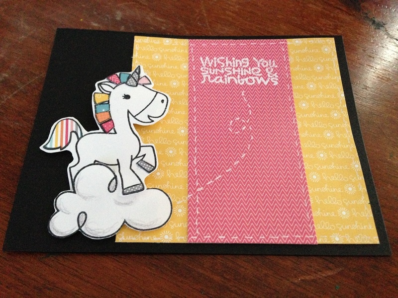 Paper Smooches Rainbow Unicorn Birthday Card Idea