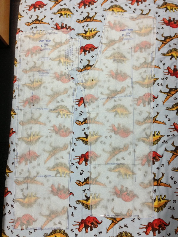 Dinosaur Print Fabric With Two