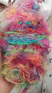 Unknown-Mystery-Rainbow-Yarn-Skein-Stash-Mohair-Project-Idea-Amigurumi-Present-For-Loved-One-Hand-Made